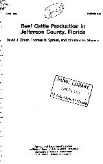 Beef cattle production in Jefferson County, Florida