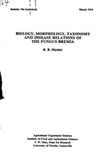 Biology, morphology, taxonomy and disease relations of the fungus Bremia /