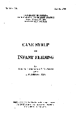 Cane syrup in infant feeding