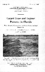 Carpet grass and legume pastures in Florida