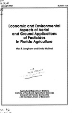 Economic and environmental aspects of aerial and ground applications of pesticides in Florida agriculture