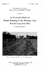 An economic study of potato farming in the Hastings area for the crop year 1925