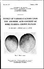 Effect of various factors upon the ascorbic acid content of some Florida-grown mangos