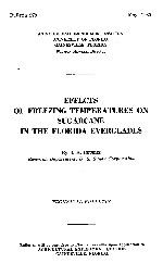 Effects of freezing temperatures on sugarcane in the Florida Everglades