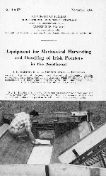 Equipment for mechanical harvesting and handling of Irish potatoes in the Southeast
