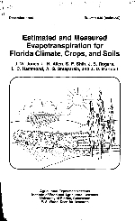 Estimated and measured evapotranspiration for Florida climate, crops, and soils
