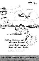 Income, resources and adjustment potential among rural families in North and West Florida