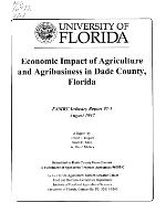 Economic impact of agriculture and agribusiness in Dade County, Florida