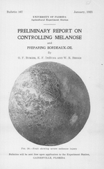 Preliminary report on controlling melanose and preparing bordeaux- oil