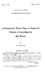 A preliminary report upon an improved method of controlling the boll weevil
