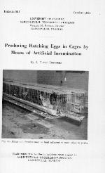 Producing hatching eggs in cages by means of artificial insemination