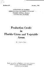 Production credit in Florida citrus and vegetable areas