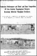 Production performance and blood and bone composition of cows grazing pangolagrass pastures receiving different phosphate fertilizers