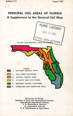 Principal soil areas of Florida