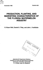 Production, planting, and marketing characteristics of the Florida watermelon industry