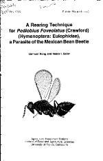A rearing technique for Pediobius foveolatus (Crawford) (Hymenoptera Eulophidae),