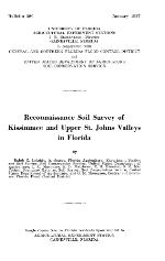 Reconnaissance soil survey of Kissimmee and Upper St. Johns Valley in Florida
