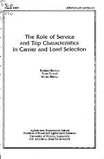 The role of service and trip characteristics in carrier and load selection