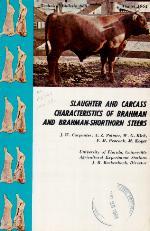 Slaughter and carcass characteristics of Brahman amd Brahman-Shorthorn steers