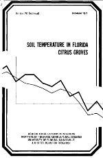 Soil temperature in Florida citrus groves