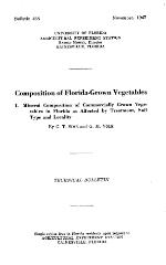 Composition of Florida-grown vegetables