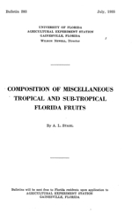 Composition of miscellaneous tropical and sub-tropical Florida fruits