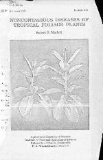 Noncontagious diseases of tropical foliage plants