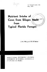 Nutrient intake of cows from silages made from typical Florida forages