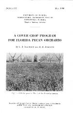 A cover crop program for Florida pecan orchards