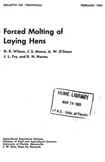 Forced molting of laying hens