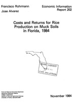 Costs and returns for rice production on muck soils in Florida, 1984