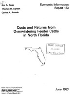 Costs and returns from overwintering feeder cattle in North Florida