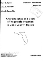 Characteristics and costs of vegetable irrigation in Dade County, Florida