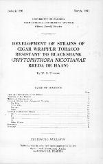Development of strains of cigar wrapper tobacco resistant to blackshank (Phytophthora nicotianae Breda de Haan)