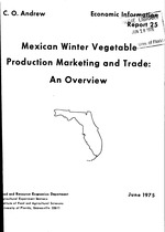 Mexican winter vegetable production marketing and trade