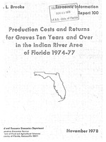 Production costs and returns for groves ten years and over in the Indian River area of Florida, 1974-77