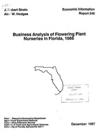 Business analysis of flowering plant nurseries in Florida, 1986