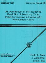 An assessment of the economic feasibility of powering citrus irrigatin systems in Florida with photovoltaic arrays