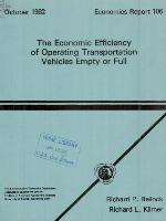 The economic efficiency of operating transportation vehicles empty or full