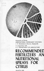 Recommended fertilizers and nutritional sprays for citrus.
