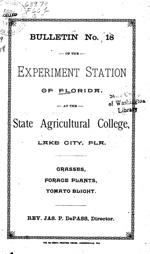 Grasses, forage plants, tomato blight