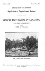 Loss of fertilizers by leaching