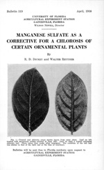 Manganese sulfate as a corrective for a chlorosis of certain ornamental plants