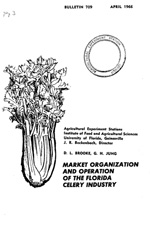 Market organization and operation of the Florida celery industry
