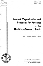 Market organization and practices for potatoes in the Hastings area of Florida