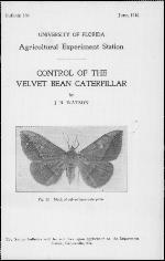 Control of the velvet bean caterpillar