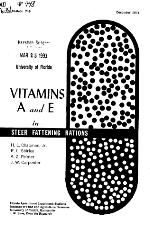 Vitamins A and E in steer fattening rations