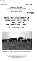 Yield and composition of Everglades grass crops in relation to fertilizer treatment