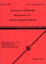 University of Florida economics of citrus irrigation game