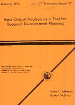 Input-output analysis as a tool for regional development planning